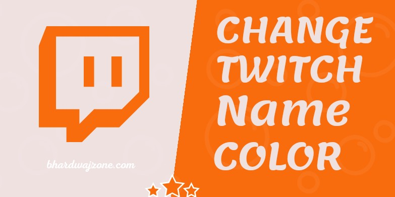 How To Change Twitch Name Color on Chat