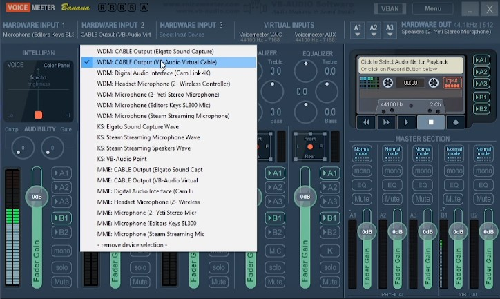 Voicemeter Software