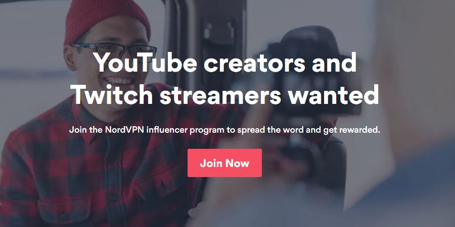 Nordvpn Influencers programe