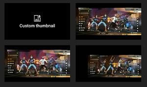 Upload custom thumbnail