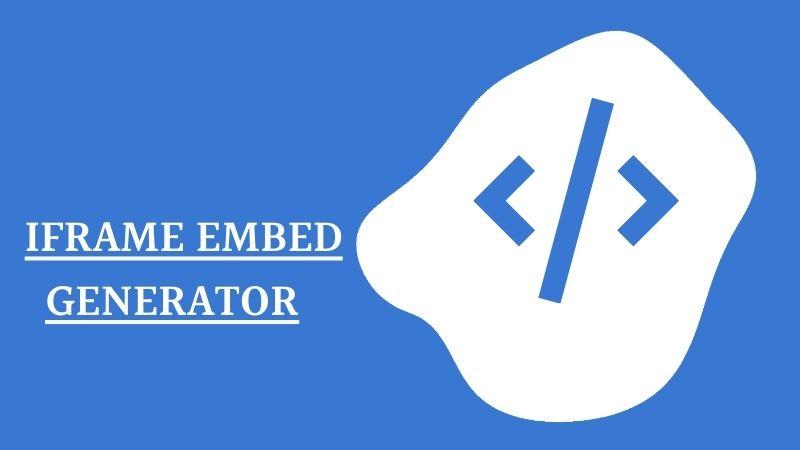 Iframe Embed Code Generator Tool